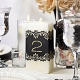 Black Paper Laser-Cut Table Number Wraps (Numbers 1-10)