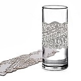 White Shimmer Laser-Cut Celebration of Love Decoration Wraps (10 ct.)