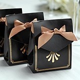 Hortense B Hewitt Art Deco Design Tent Favor Boxes (Package of 25)