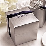 Personalized Silver Shimmer Two-Piece Cupcake Boxes (Package of 25)