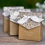 Personalized Naturally Vintage Tent Favor Boxes (Package of 25)