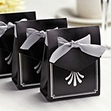 Hortense B Hewitt Silver Art Deco Tent Favor Boxes (Package of 25)
