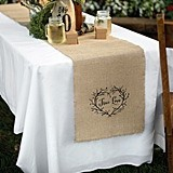 Hortense B Hewitt True Love Burlap Table Runner