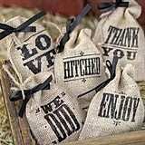 Hortense B Hewitt Vintage Burlap Favor Bags (5 Designs)(Package of 25)