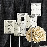Glamorous Flourish Frame Design Table Number Cards (Numbers 1 - 40)