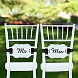 Hortense B Hewitt Mr. and Mrs. Scalloped-Edge Chair Banners