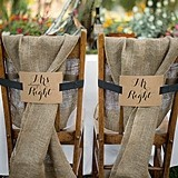 Hortense B Hewitt Mr. and Mrs. Kraft Chair Banners