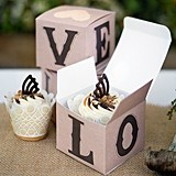 Hortense B Hewitt Rustic LOVE Cupcake Boxes (Package of 25)