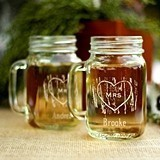 Hortense B Hewitt Personalized Mr. & Mrs. Woodgrain Love Mason Jars