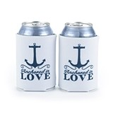 "Nautical-Themed ""Anchored in Love"" Can Coolers (Set of 2)"