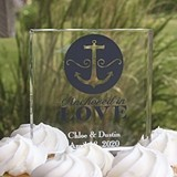 Hortense B Hewitt Personalizable Nautical-Themed Acrylic Cake Top