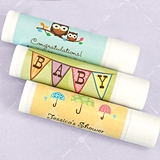 Ducky Days Personalized Lip Balm in White Tube (Baby Shower Designs)