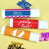 Ducky Days Adult Birthday Designs Personalized Lip Balm in White Tube