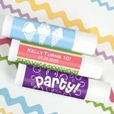 Ducky Days Personalized Lip Balm in White Tube (Kids Birthday Designs)