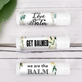 Personalized Floral & Botanicals Designs Lip Balm in White Tube