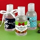 Personalized Holiday Hand Sanitizers (24 Designs)
