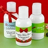 Personalized Holiday Hand Lotion Bottles (24 Designs)