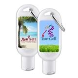 Custom Corporate Logo SPF-30 Sunscreen Bottle with Carabiner