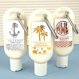 Personalized SPF-30 Sunscreen with Metallic Foil Stickers (64 Designs)
