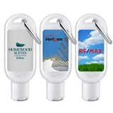 Custom Corporate Logo Hand Sanitizer Bottle with Carabiner