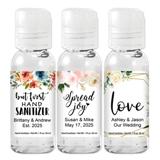 Ducky Days Floral & Botanical Designs 1oz Hand Sanitizer Gel Bottles