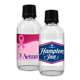 Custom Corporate Hand Sanitizer - 2oz Glass Bottle with Shaker Top