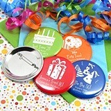 Personalized Glossy Round Pin-On Buttons (Silhouette Designs)