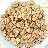 Personalized Heart-Shaped Wood Confetti/Signing Hearts (Set of 150)