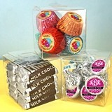 Perfectly Plain Collection Clear Plastic Square Favor Box