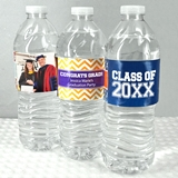 Graduation Designs Personalized Water Bottle Labels (Set of 5)