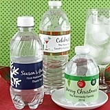 Personalized Holiday Water Bottle Labels (23 Designs) (Set of 5)