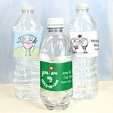 Personalized Golf-Themed Water Bottle Labels (14 Designs) (Set of 5)