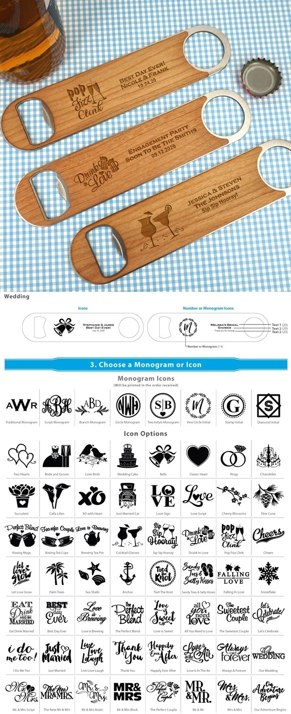 Ducky Days Personalized Wood Paddle Bottle Opener (64 Unique Designs)