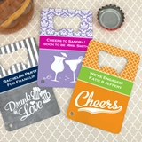 Personalized Stainless Steel Credit Card Bottle Opener (64 Designs)