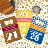 Personalized Adult Birthday Stainless Steel Credit Card Bottle Openers