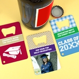 Personalized Graduation Stainless Steel Credit Card Bottle Opener