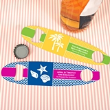 Ducky Days Personalized Stainless Steel Surfboard Bottle Openers