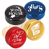 Custom Corporate Logo Aluminum Top Bottle Stopper (6 Color Choices)