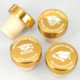 Ducky Days Graduation Personalized Gold Aluminum Top Bottle Stopper