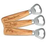 Custom Corporate Logo Wood-Handled Bottle Opener