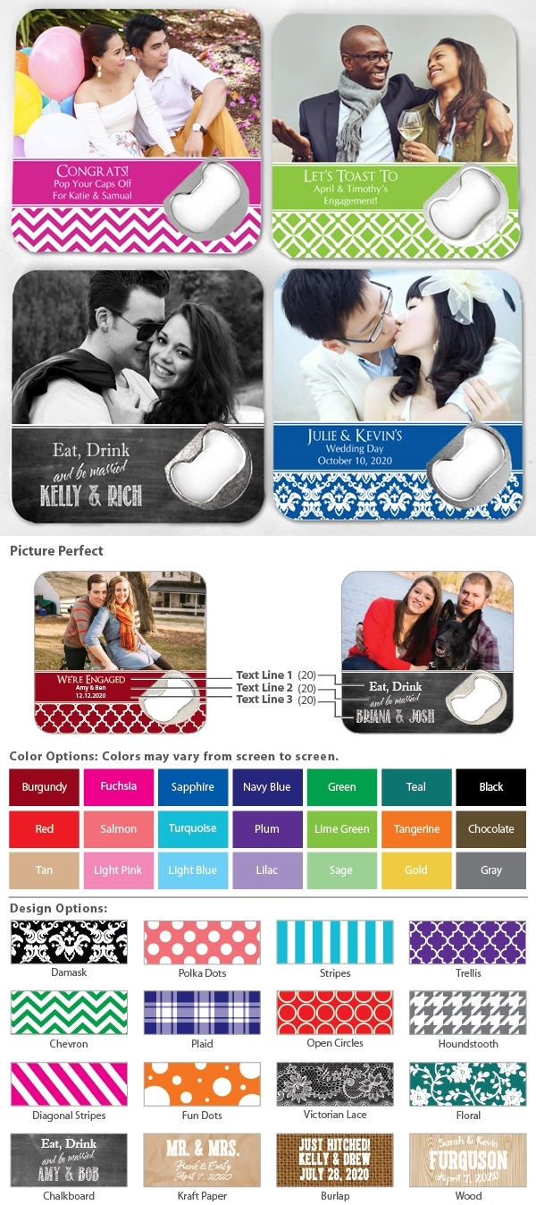 Custom Picture Perfect Photo White Plastic Bottle Opener Coaster