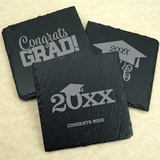 Ducky Days Personalized Graduation Designs Slate Square Coasters