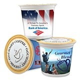 Personalized Corporate Single Serve K-Cup Coffee with Custom Artwork
