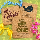 Ducky Days Personalized Kids Birthday Square Cork Coasters