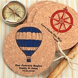 Personalized Round Cork Coasters (125 Designs)