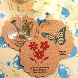 Personalized Scalloped-Edge Cork Coasters (125 Designs)