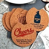 Personalized Car Cup Holder Cork Coasters (125 Designs)