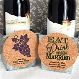 Personalized Round Cork Coaster Magnets (125 Designs)