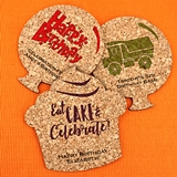 Ducky Days Kids Birthday Theme Shaped Cork Coasters (15 Colors)