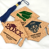 Ducky Days Graduation Cap-Shaped Cork Coasters (15 Colors)